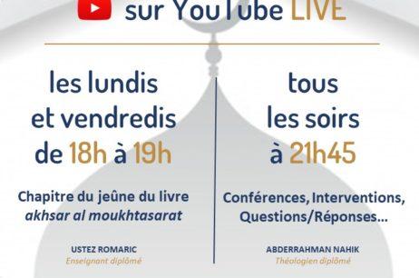 Programme Spécial Ramadan – Live Youtube